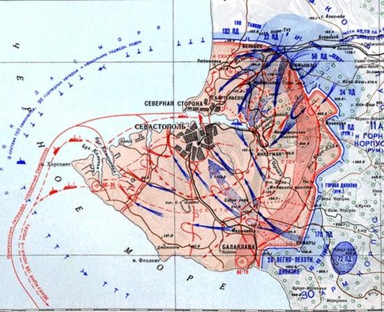 Карта последних боев