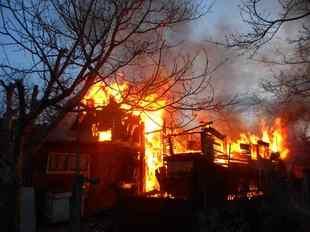 При пожаре в Ярославском районе пострадали двое детей.
