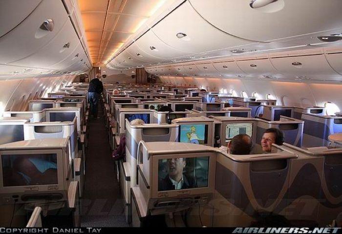 Автор в кабине А380 на высоте