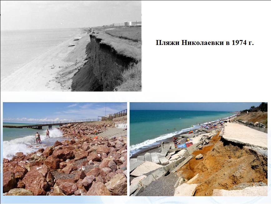 Пляжи в Николаевке в 1970 г. и сейчас