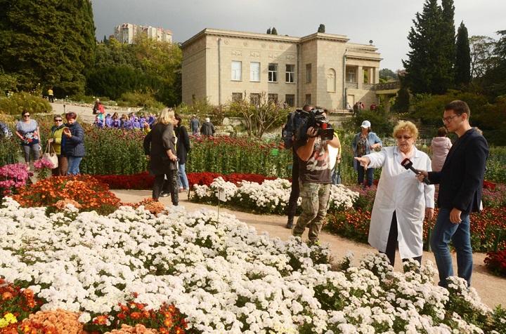В Крыму закружились в танце сотни сортов хризантем