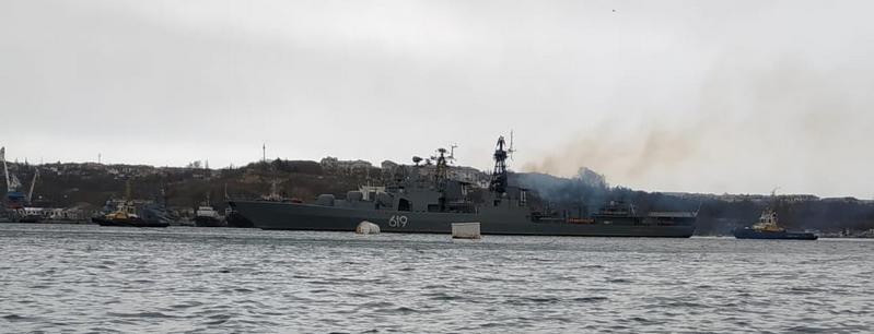 Борец с пиратами зашёл в порт Севастополя