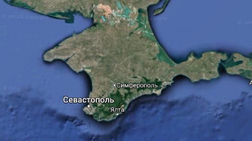 ForPost- Крым раздвоился на картах Google