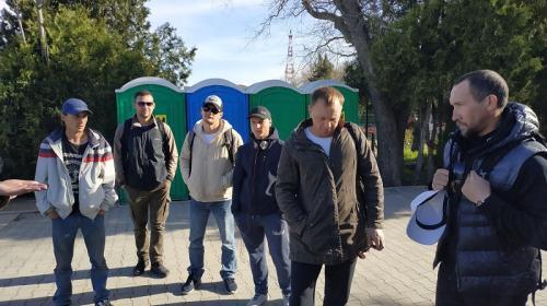 ForPost- В Севастополе бастуют строители Исторического бульвара