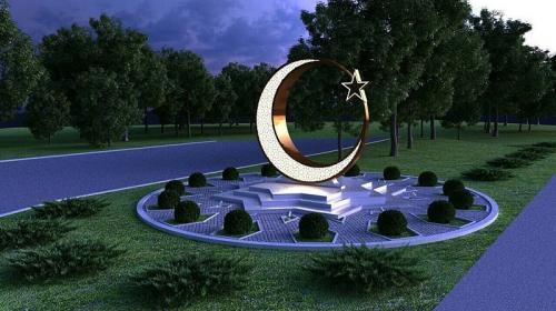 ForPost- Мусульманский полумесяц установят на въезде в Симферополь
