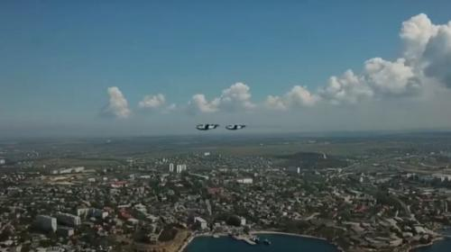 ForPost- В небе над Севастополем прошла репетиция воздушного парада
