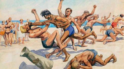ForPost- На пляже в Севастополе произошла массовая драка