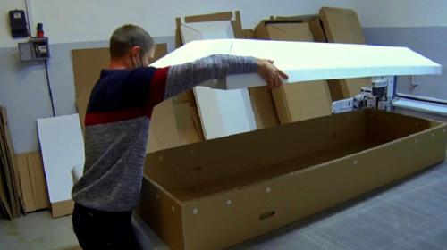 ForPost- В Севастополе запущено производство картонных гробов