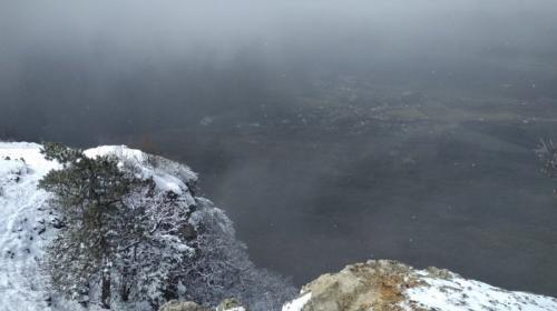 ForPost- Горы Крыма внезапно засыпало снегом