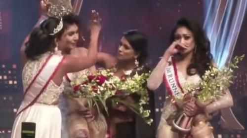 ForPost- Конкурс красоты в Шри-Ланке закончился битвой за корону. Видео