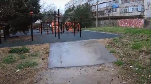 ForPost- Спортплощадка для инвалидов в Севастополе за год пришла в негодность