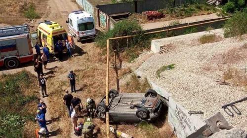 ForPost- Машины рухнули с моста в Крыму