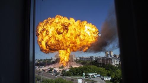 ForPost - Страшные взрывы на АЗС выбили окна из сотен квартир. Видео