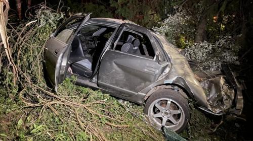 ForPost- В Севастополе спасли троих заблокированных в улетевшей с трассы машине