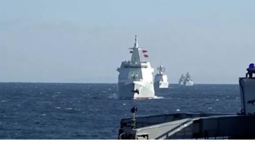 ForPost- Боевые корабли России и Китая впервые провели патрулирование в Тихом океане