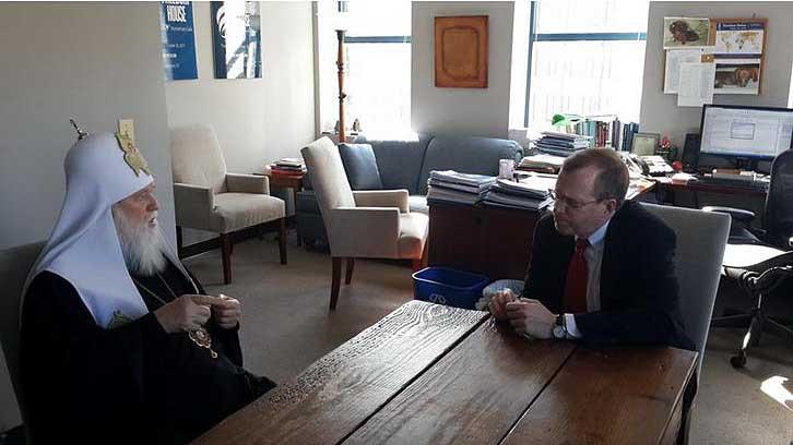 Лидер украинских раскольников Филарет посетил Госдеп США