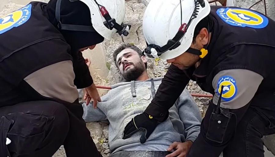 МО: В Сирии начались съемки для новой провокации с химоружием