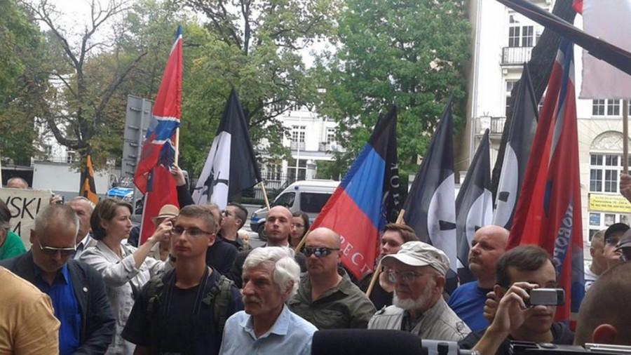 В Праге прошел митинг против войны в Донбассе
