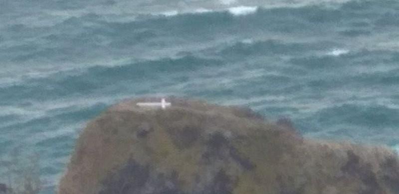 Шторм разрушил крест на скале Святого Явления в Севастополе