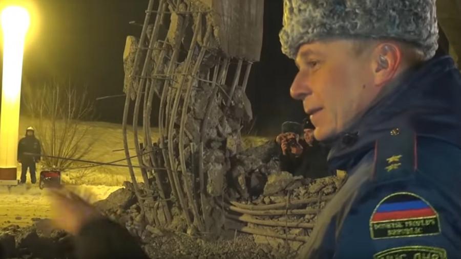 Власти ДНР выложили видео с места подрыва моста в Донецке
