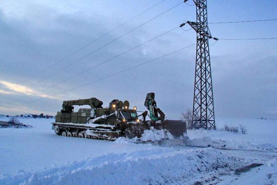 Движение транспорта вследствие непогоды временно ограничено на 15 автодорогах Республики – МЧС ДНР