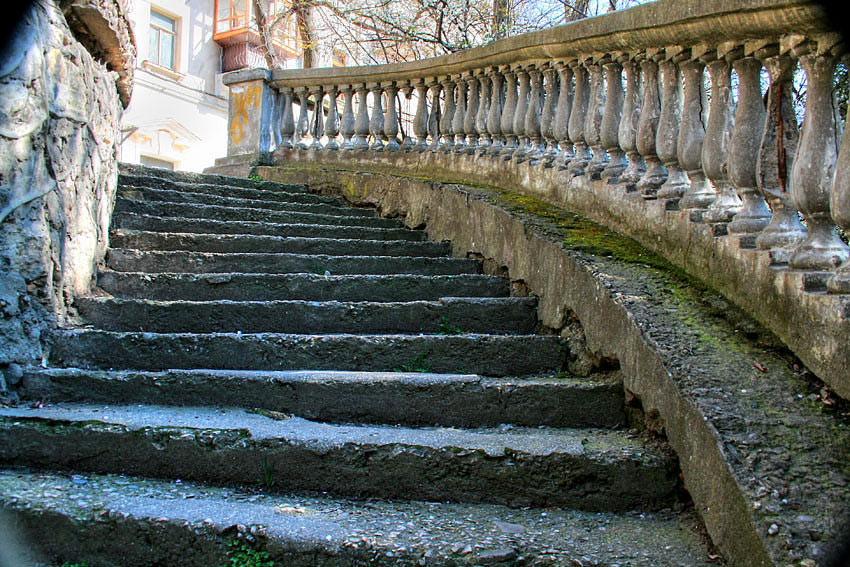 ForPost - Новости : Севастопольские лестницы грозят стать очередным недостроем