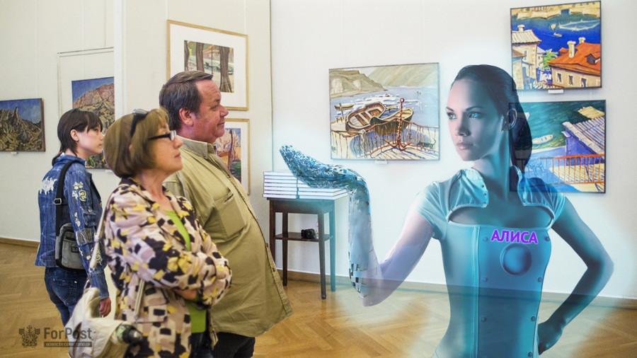 «Алису» научили распознавать картины в севастопольском музее