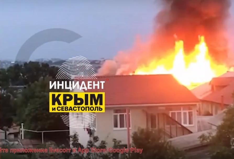 ForPost - Новости : В Севастополе сгорел многоквартирный дом