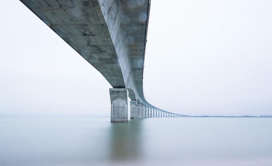 ForPost - Новости : Мост над Севастопольской бухтой завис