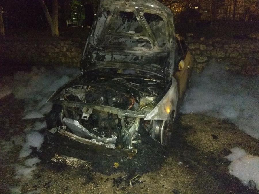 ForPost - Новости : Ночью в Севастополе сгорел BMW