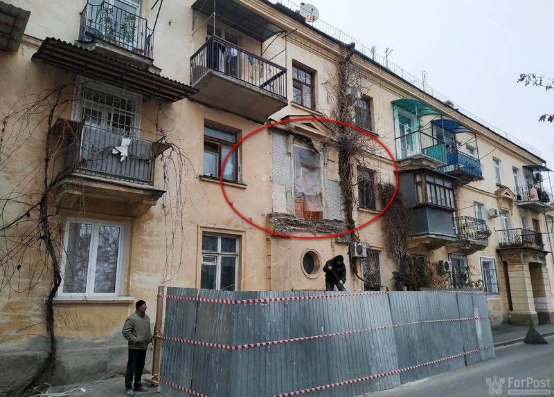 ForPost - Новости : С дома в центре Севастополя пропал балкон