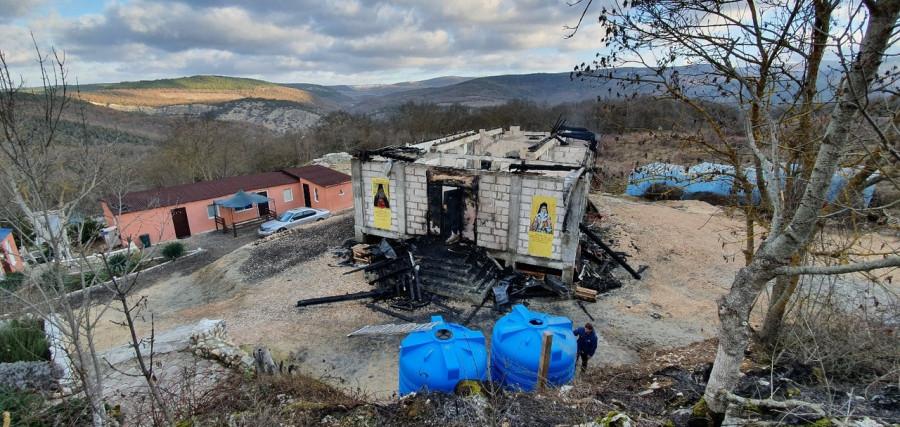 ForPost - Новости : Под Севастополем сгорел строящийся храм