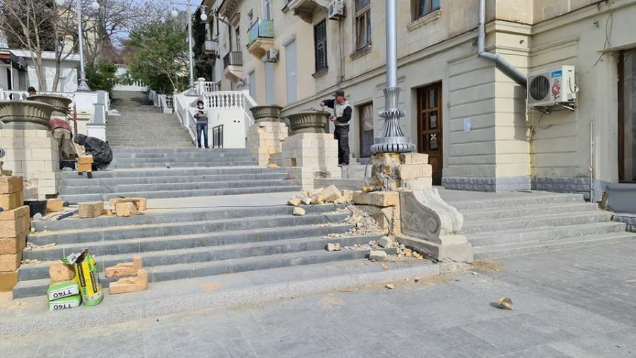 ForPost - Новости : Объект культурного наследия в центре Севастополя восстанавливают «подручными средствами»