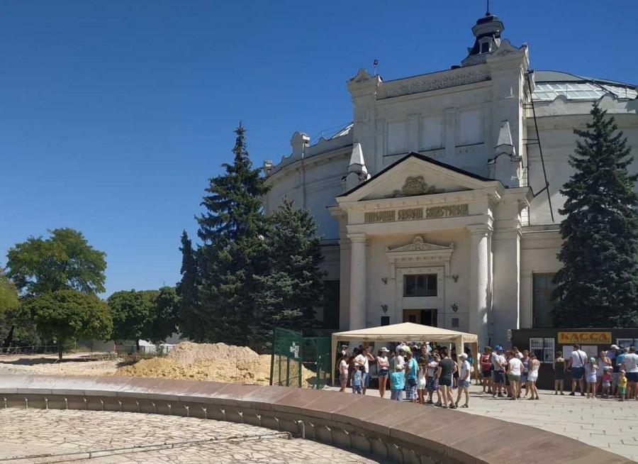 ForPost - Новости : В Севастополе реконструируют здание Панорамы
