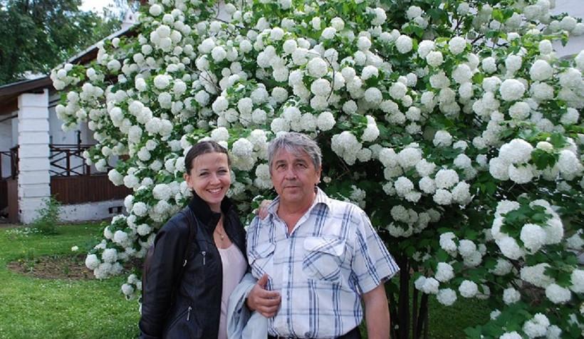 Юрий Горячкин с дочерью Дашей