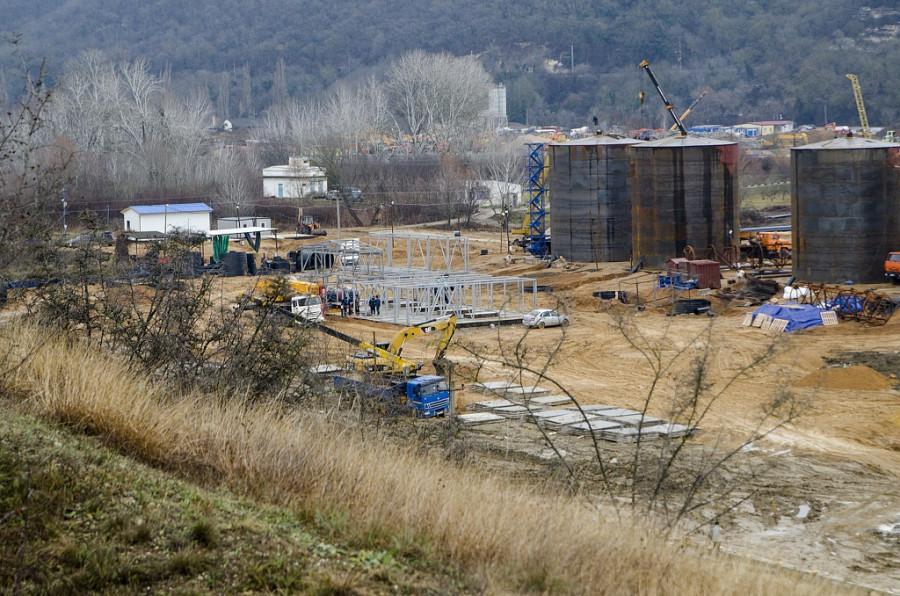ForPost - Новости : Как строят водозабор на реке Бельбек для Севастополя. Фоторепортаж