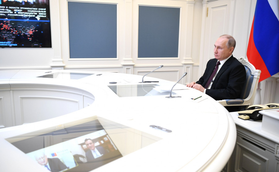 ForPost - Новости : «Гонят женщин и детей»: Путин сравнил участников незаконных акций с террористами