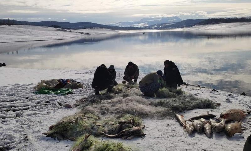 ForPost - Новости : Из обмелевшего водохранилища в Крыму выловили тонну рыбы