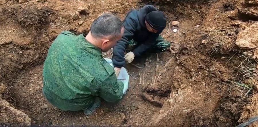 ForPost - Новости : В Севастополе обнаружили останки 17 красноармейцев