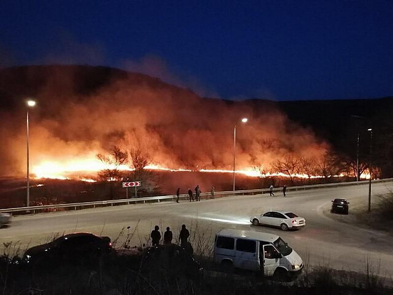 ForPost - Новости : В пожаре на крымском озере могли погибнуть перелетные птицы
