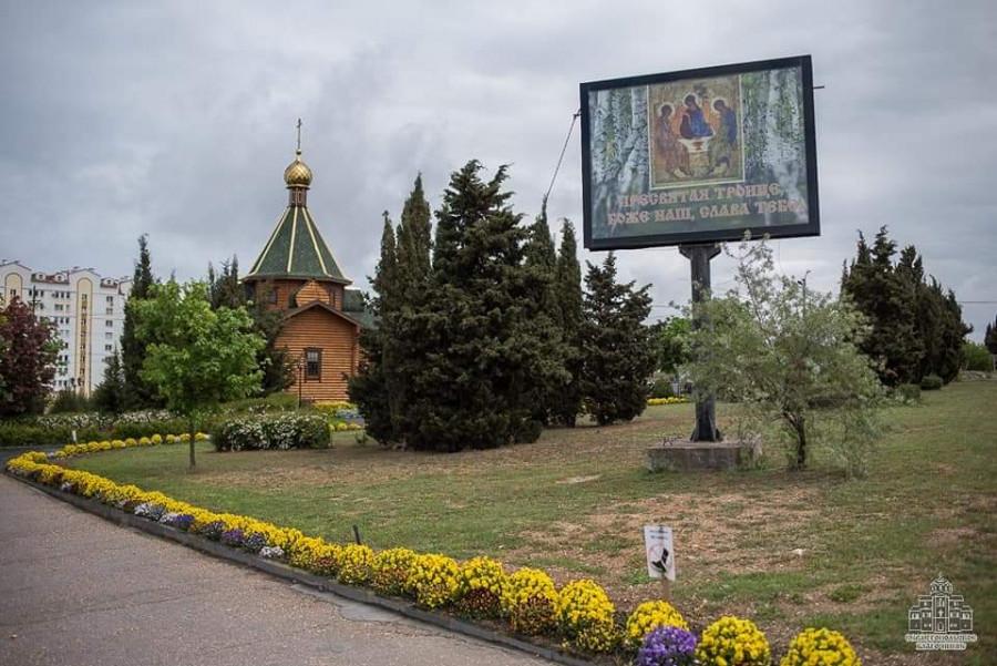 ForPost - Новости : Забор вокруг храма в Севастополе не затронет территорию сквера