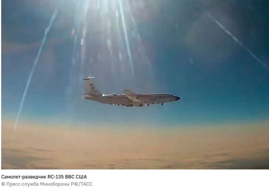 ForPost - Новости : Истребитель МиГ-31 сопроводил американский самолет-разведчик над Тихим океаном