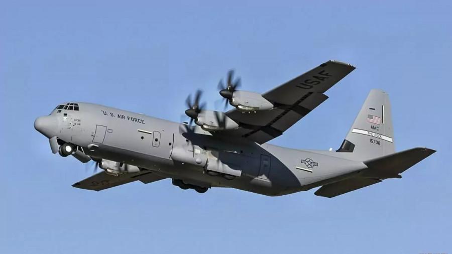 ForPost - Новости : Военный самолет США C-130 прилетел на Украину с неизвестным грузом