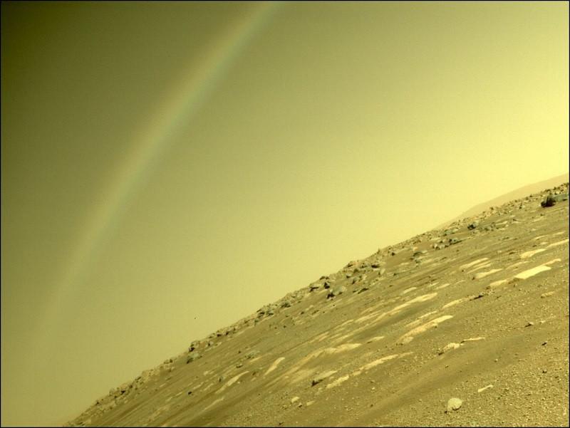 ForPost - Новости : NASA опубликовало фото радуги на Марсе