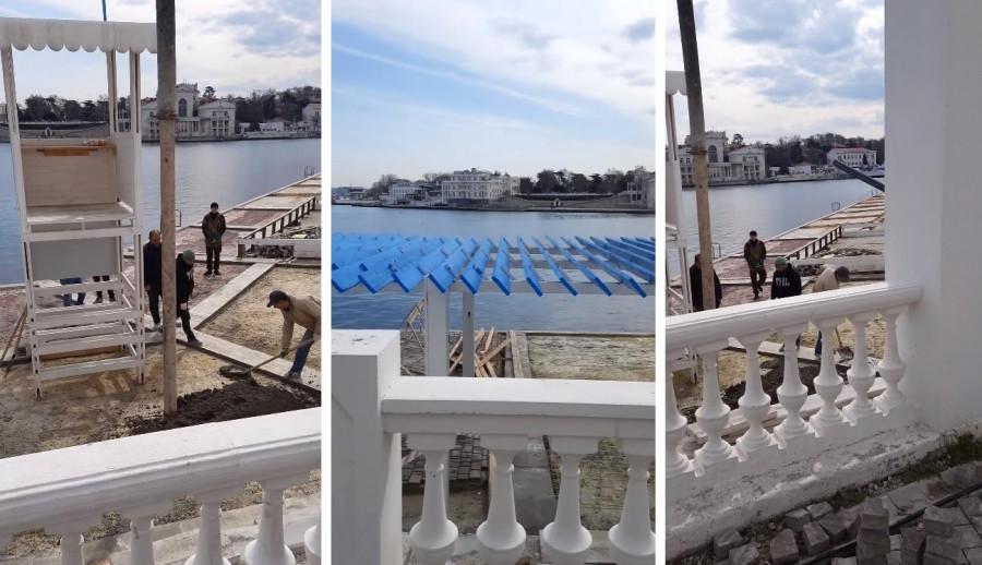ForPost - Новости : Тротуарной плитке на Хрустальном пляже Севастополя дадут ещё один шанс