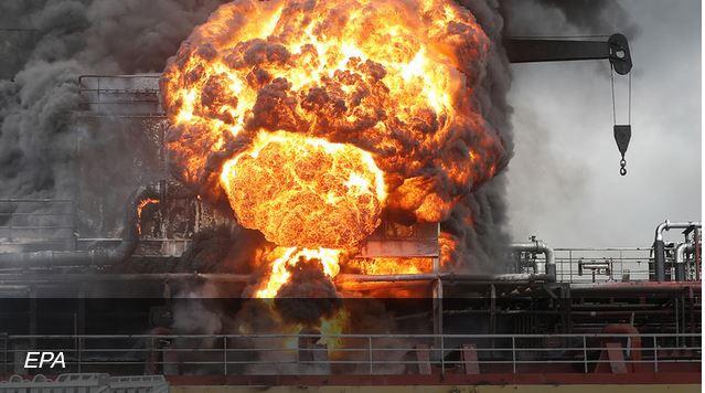ForPost - Новости : В поджоге танкера у берегов Сирии подозревают беспилотник