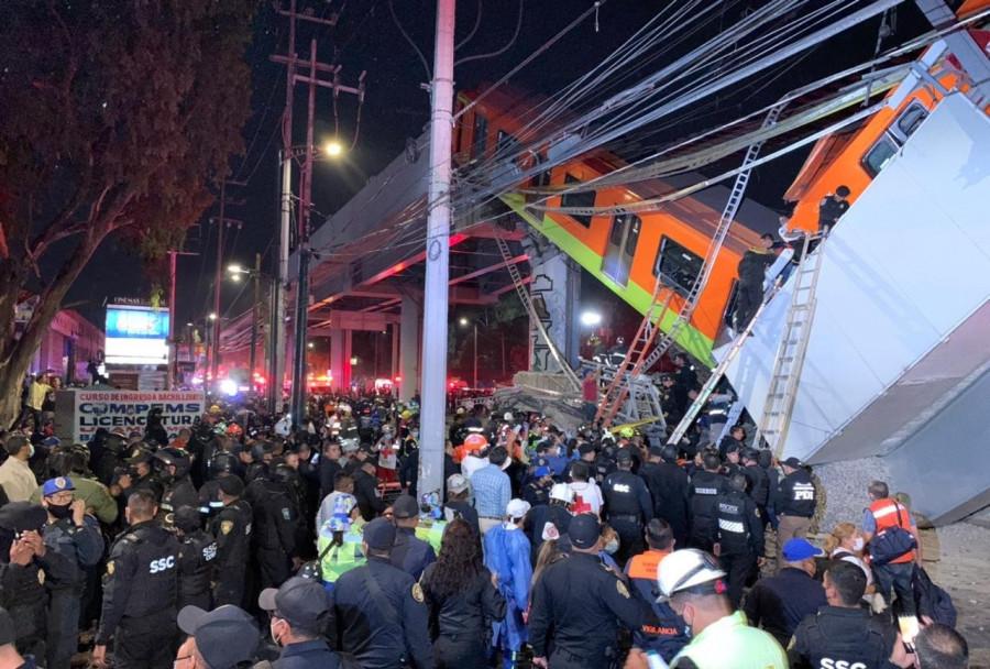 ForPost - Новости : В Мексике обрушилось наземное метро, погибли 13 человек. Видео