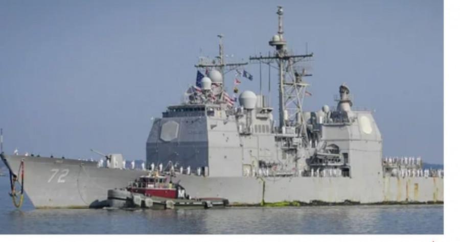 ForPost - Новости : Ракетный крейсер США сломался при попытке «устрашения» кораблей ВМФ РФ в Средиземном море