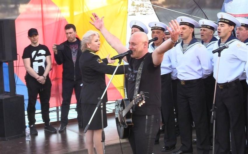 ForPost - Новости : В Севастополе на «Москве» презентовали гимн Черноморского флота
