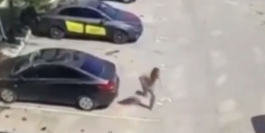 ForPost - Новости : В Севастополе мужчина прыгнул с третьего этажа на машину и убежал